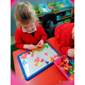 Finding letters to make familiar words