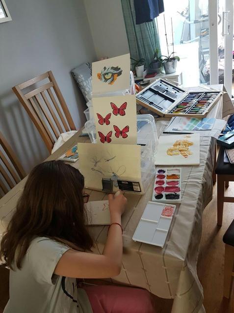 Ava (Holly) Beautfiul Butterfly Paintings!