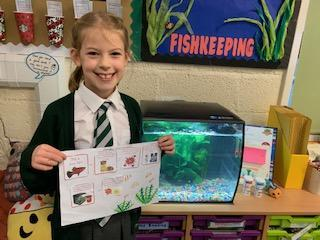 Our fish keeper of the week is Isla.