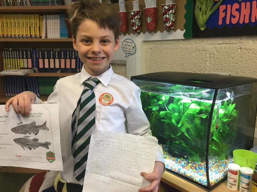 Our fish keeper of the week is Charlie!