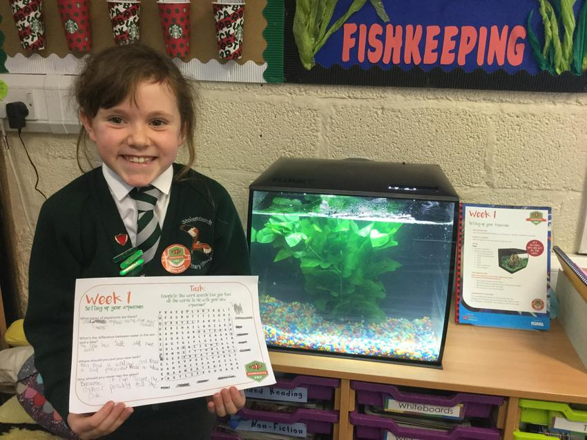 Our fishkeeper of the week is Molly! Well done!