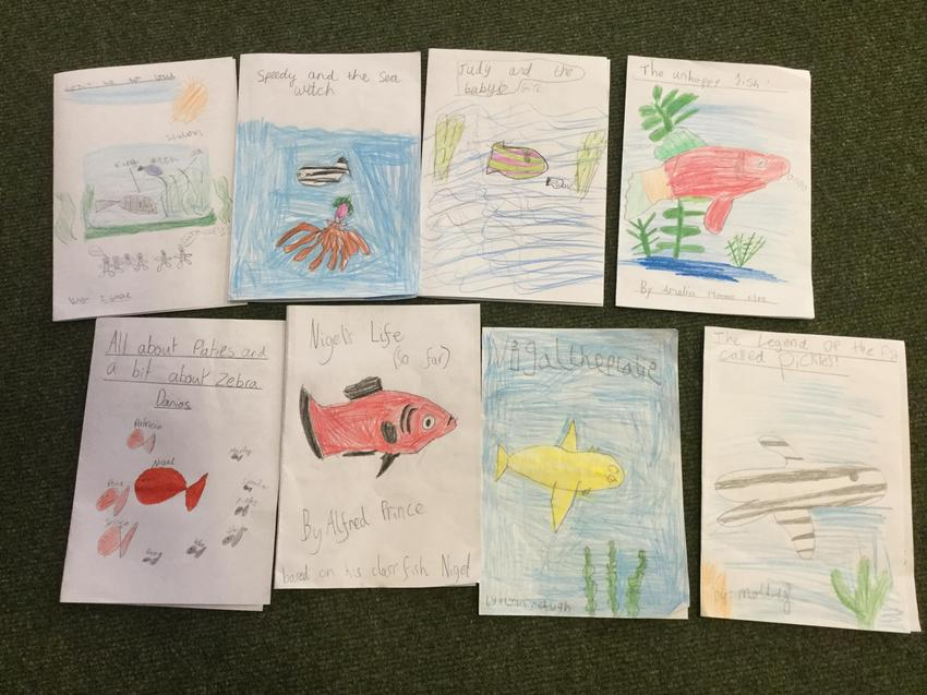 Here are some of our finished stories!
