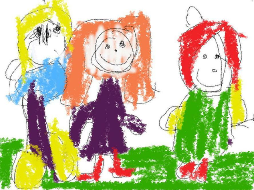 We can draw pictures on the iPad.
