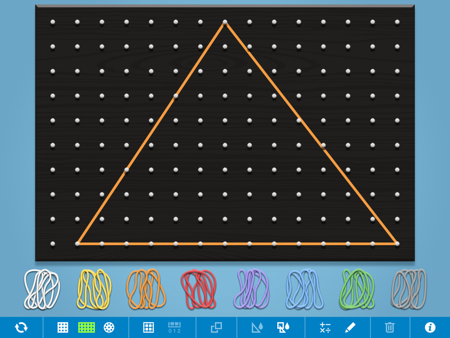 Using Geoboard to enhance numeracy