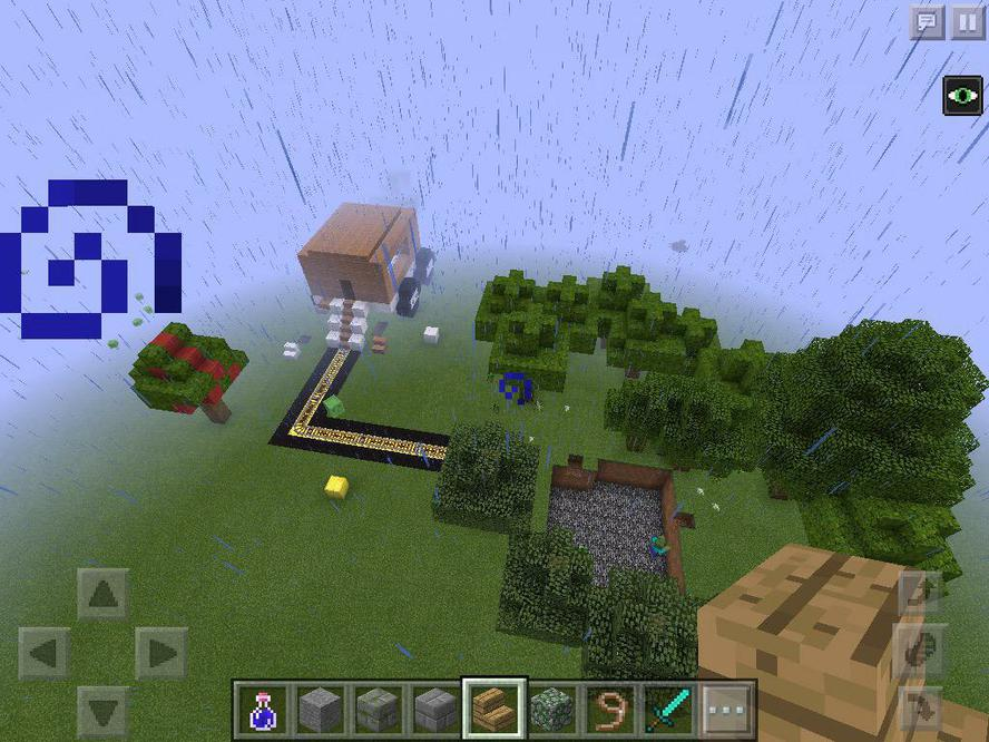 Using Minecraft to show the woods  and caravan.