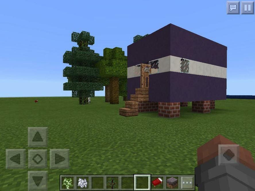 Using Minecraft to depict the caravan setting.
