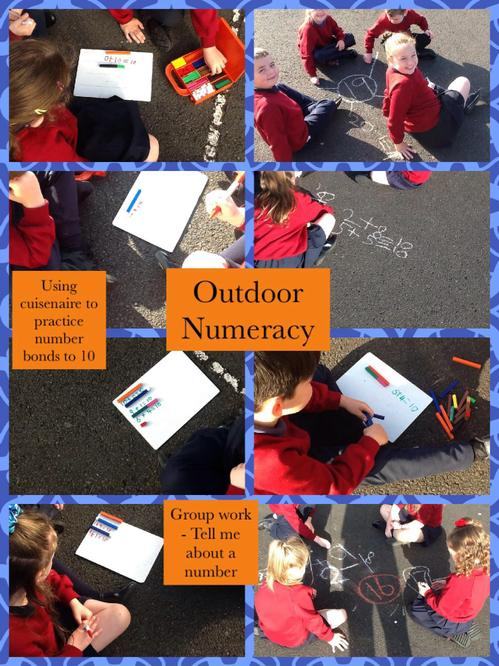We brought our learning outside.