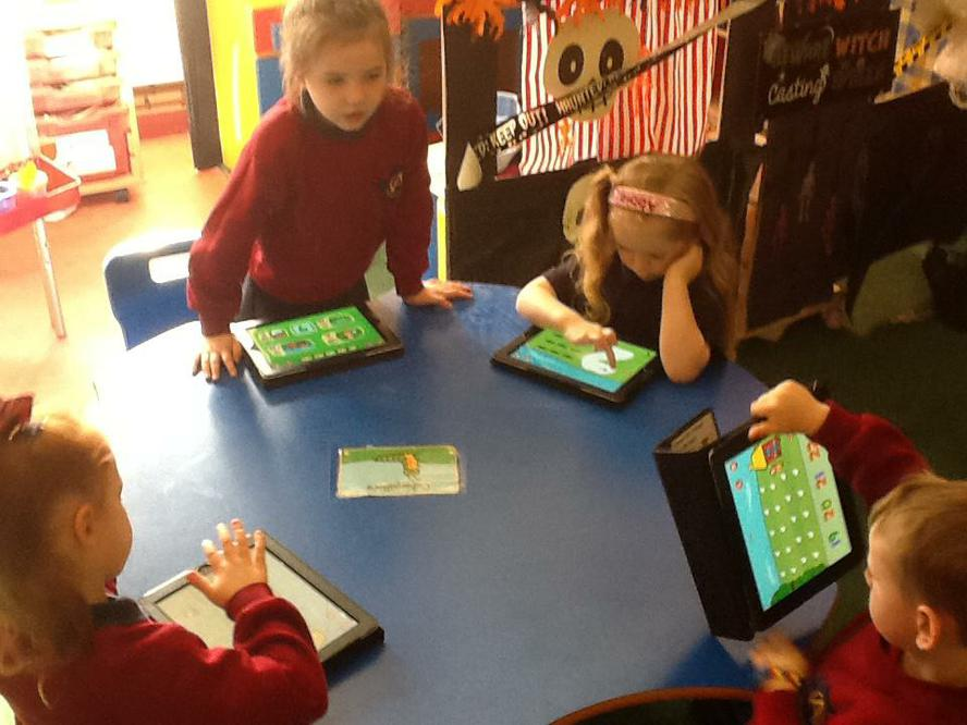 We use the iPad to help us with our Numeracy.