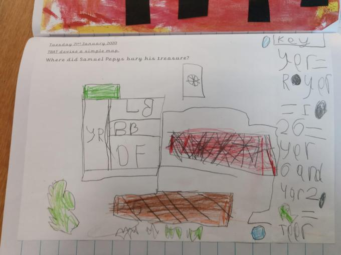 Year 1 Map of the Reception/Year 1 Building