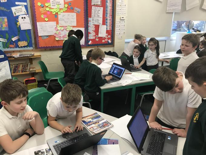Year 4 Researching about Mount Everest