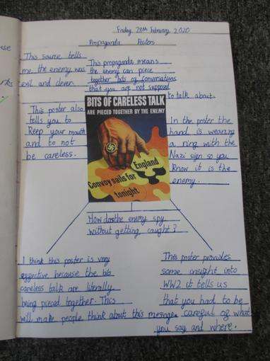 Year 6 Propaganda links with Art