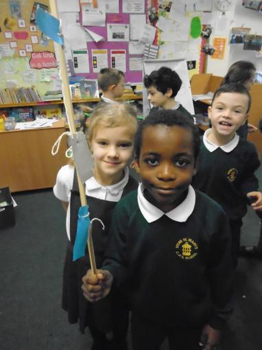 Year 3 making weather stations