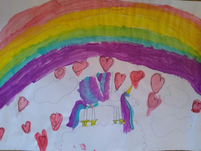 Rainbow Unicorn by Evie