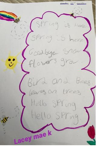 A lovely Spring poem by Lacey-Mae K