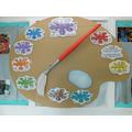 Palette showing 'blurbs' describing the artwork of each class