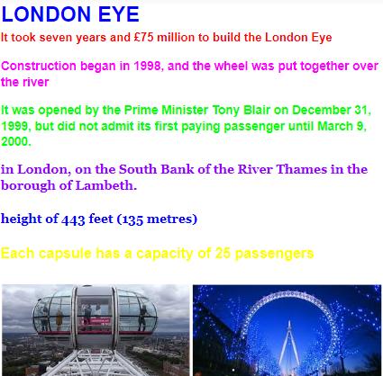 Reggie's London fact file