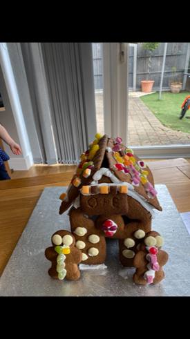 Oscar's fab gingerbread house
