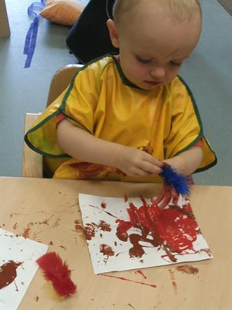 Painting our bird pictures