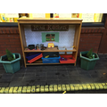 Our fantastic mud kitchen