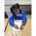 Bareerah drew her favourite fruit
