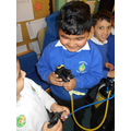 Ayaan worked how to use the breathing apparatus.