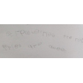 Hassan wrote strawberries are red and apples are sweet