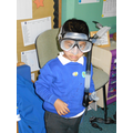 Habibur liked trying on the googles