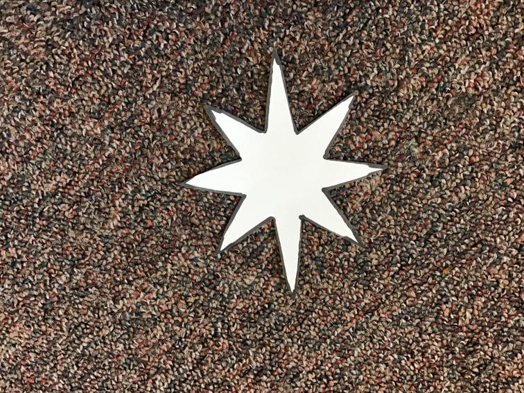 6. Cut out your star.