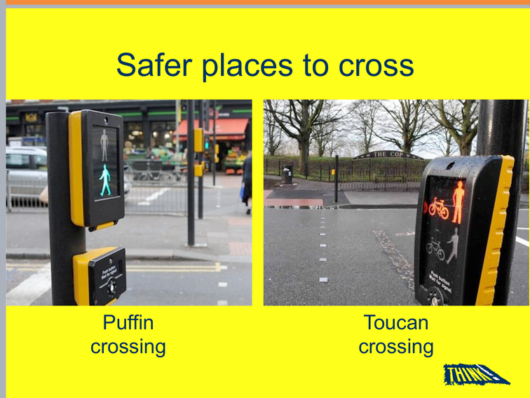 Find the safest places to cross. Don't cross between parked cars. ✅❌