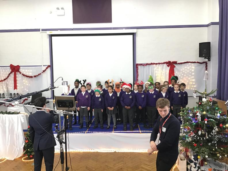 Year 3 did such an incredible job recording their song for the Christmas production! 🎼