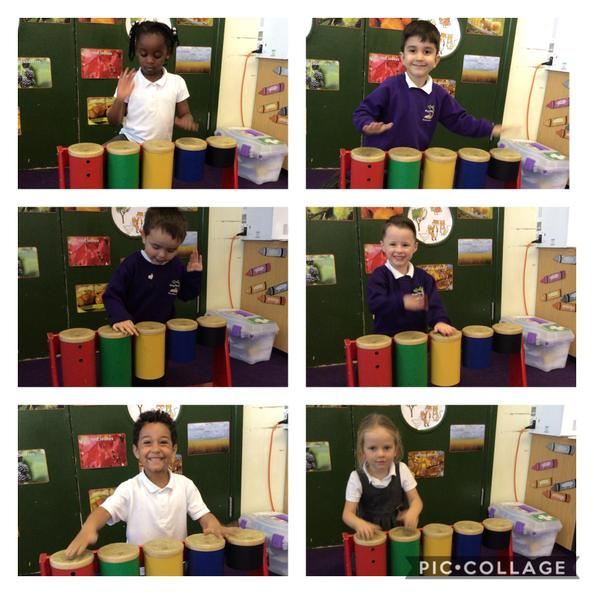 We have played instruments and learnt a song from South Africa.