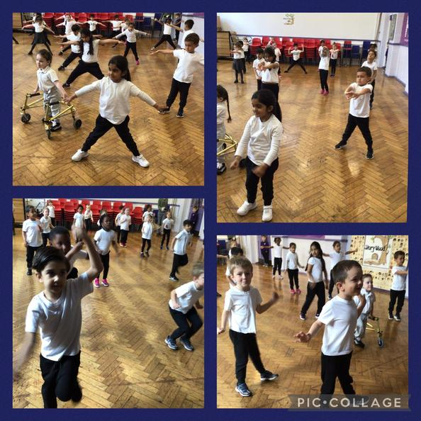 We always warm up our bodies at the start of our lesson.