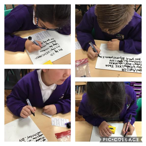 We have been learning Roman Numerals this week.