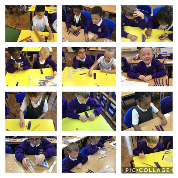 In maths we used different resources to represent numbers up to 100.