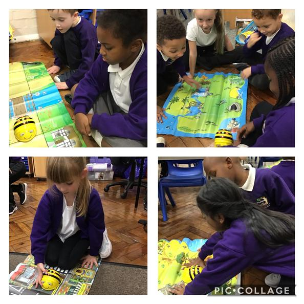 We have been learning about algorithms in computing. We programmed the Beebots together.