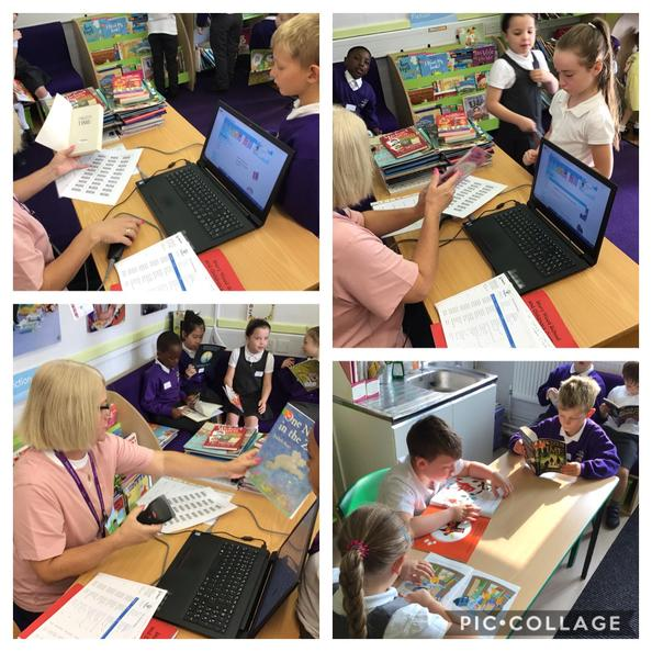 Year 3 have been into the library to pick their new Accelerated Reader books!