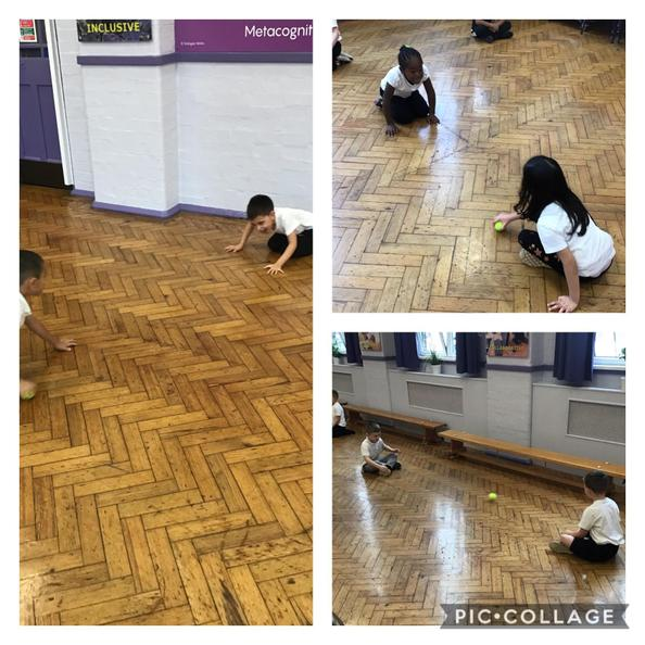 Sending and receiving a ball in PE.
