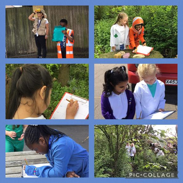 We went on a senses walk as part of our fun science day!