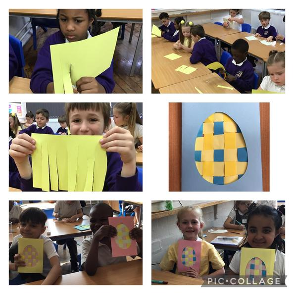 The children learnt how to weave paper to create these amazing Easter cards!