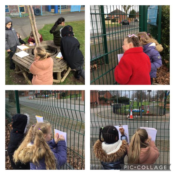 We looked for examples of human and physical features in our local area.