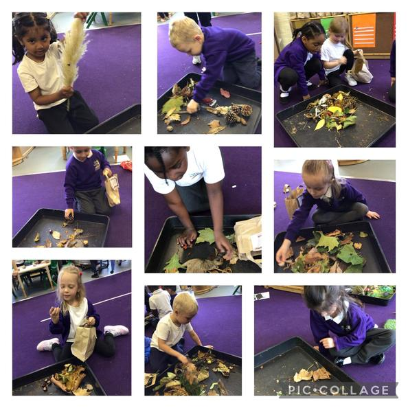 The children all took a treasure bag home for their own Autumn hunt.