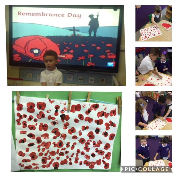 We have been talking about why we are wearing poppies.