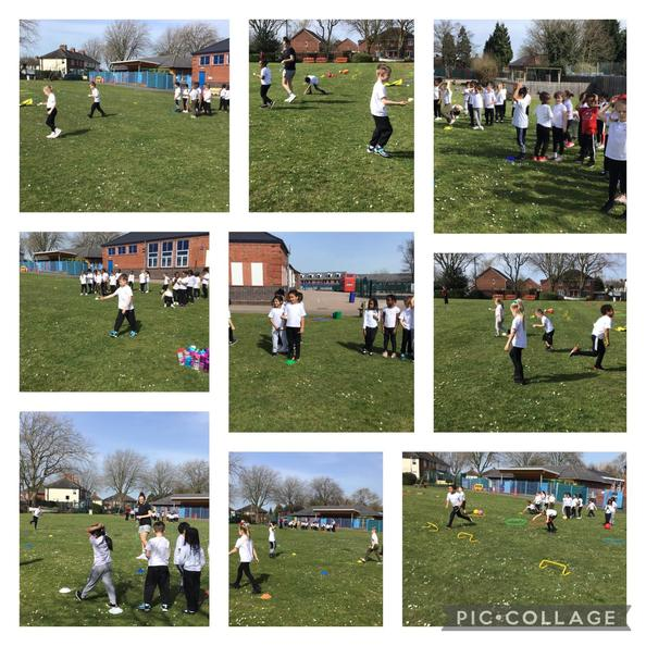 We had lots of fun doing Sports Day in the sunshine!
