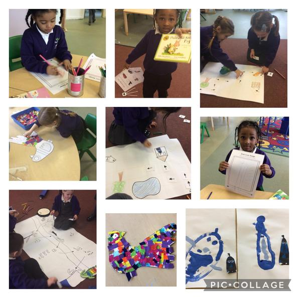 We did lots of activities about our story 'Shh! We Have a Plan'