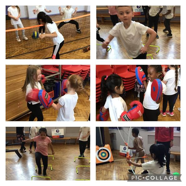 We had great fun testing out different Olympic sports.