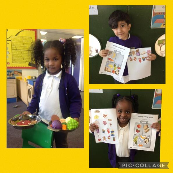 We are learning about healthy and unhealthy food choices.