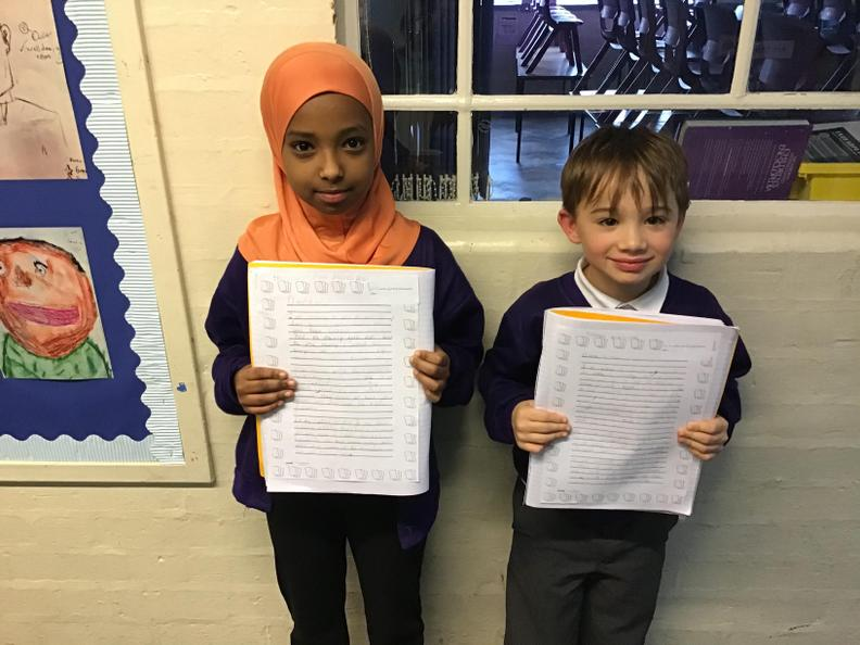 Nabila and Zack have done some amazing persuasive writing this week, well done! ✉️