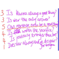 Y6 Questions generated