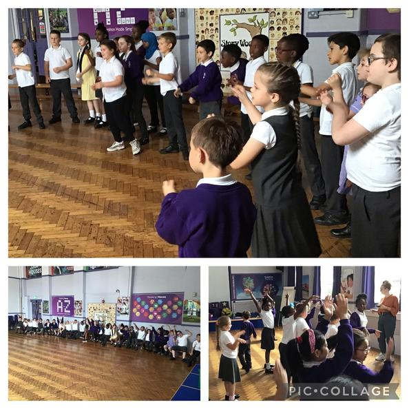 It was great to welcome the brilliant @altrudrama to do some plant-based drama with Year 3