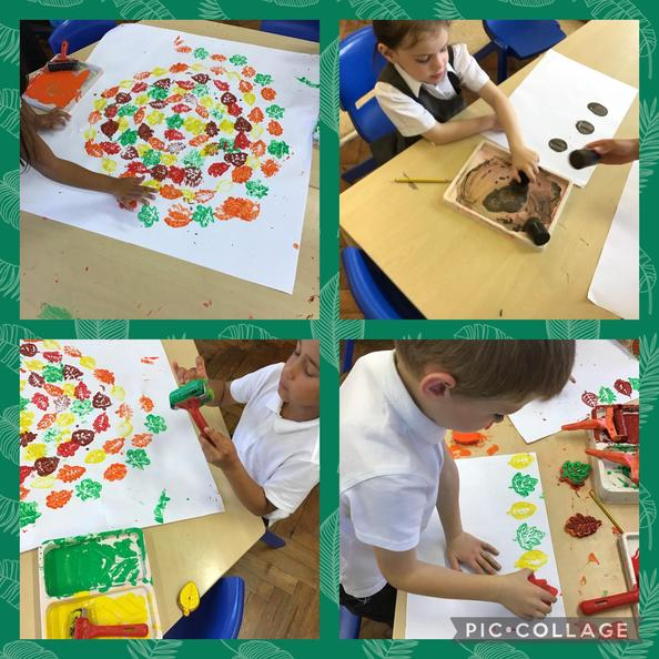 In Year 1 we painted and printed like the artist Andy Goldsworthy.